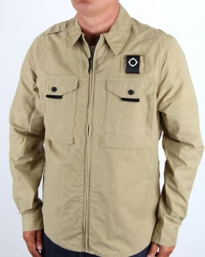 Ma.strum Pickerel Zip Through Overshirt Sand