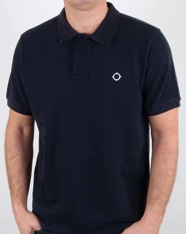 Ma.Strum Pique Icon Polo Shirt Dark Navy