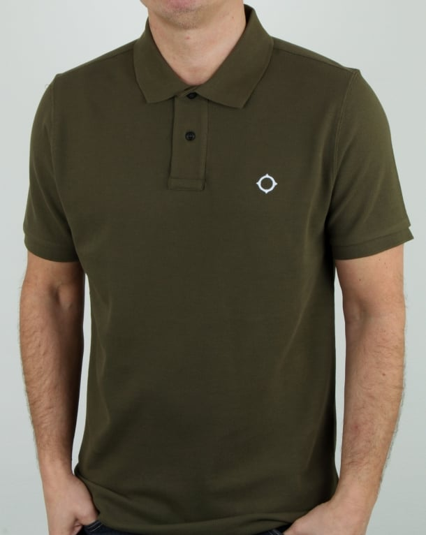 Ma.strum Pique Icon Polo Shirt Light Khaki