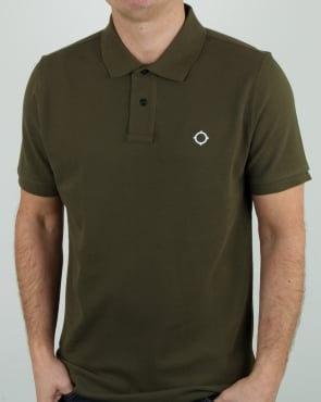 Ma.strum Pique Icon Polo Shirt Light Khaki
