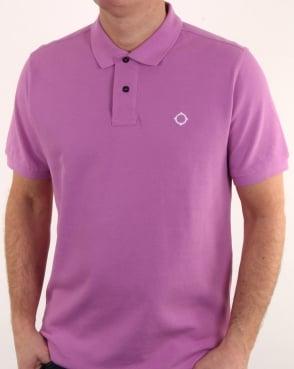Ma.strum Pique Icon Polo Shirt Mauve