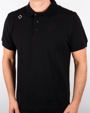 Ma.strum Pique Polo Shirt Black