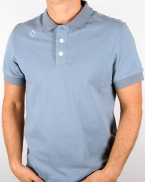 Ma.strum Pique Polo Shirt Storm Blue