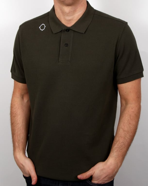 Mastrum Warley Polo Shirt Dark Olivepiquecottonmens
