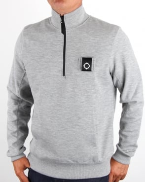 Ma.strum Scamp Funnel Neck Grey Melange