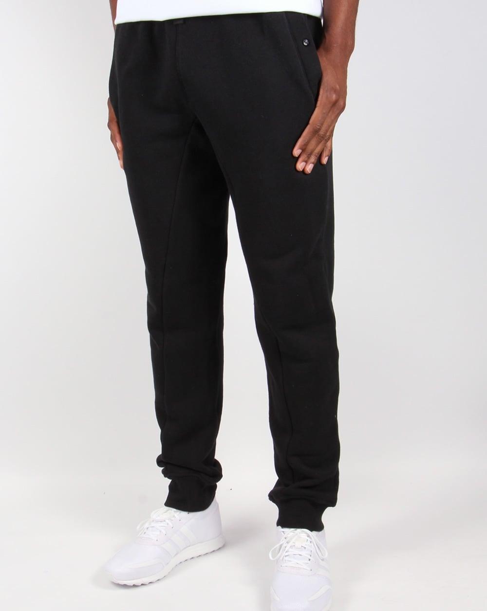 f02fc063c2 Ma.strum Slim Fit Herringbone Sweat Pants Black,tracksuit, bottoms,mens