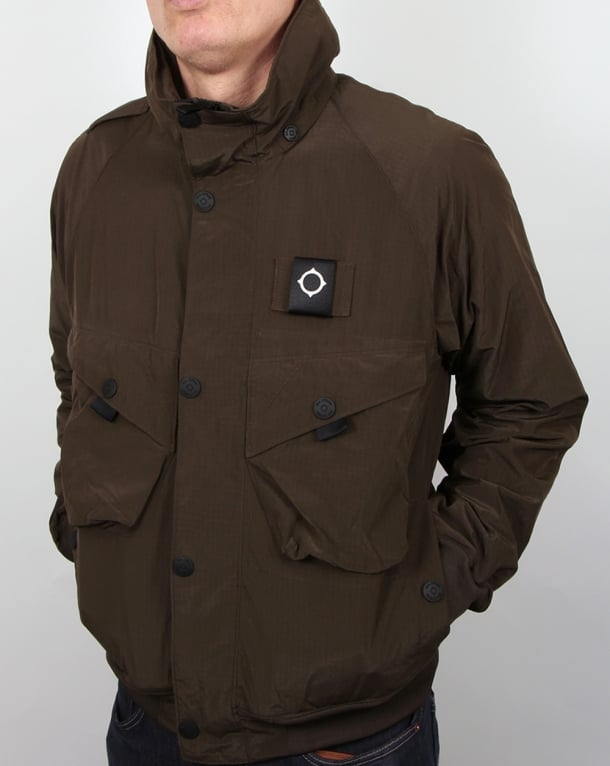 Ma.strum Sultan Bomber Jacket Dark Olive