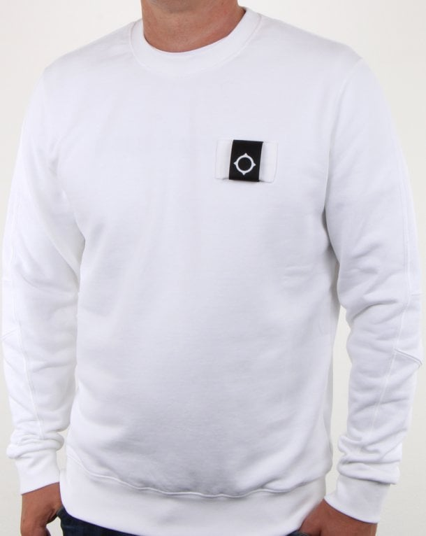 Ma.strum Training Crew Sweat Optic White