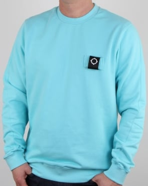 Ma.strum Training Crew Sweat Pale Turquoise