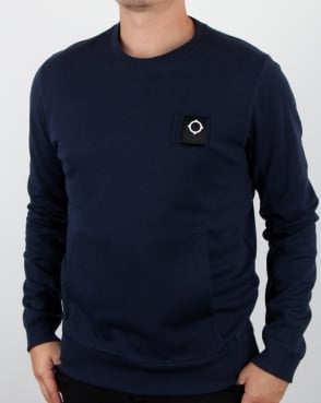Ma.strum U-boat Crew Neck Dress Blue