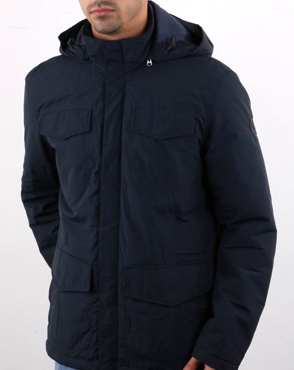 outlet boutique lace up in reliable quality Marc O Polo Hooded Field Jacket Navy