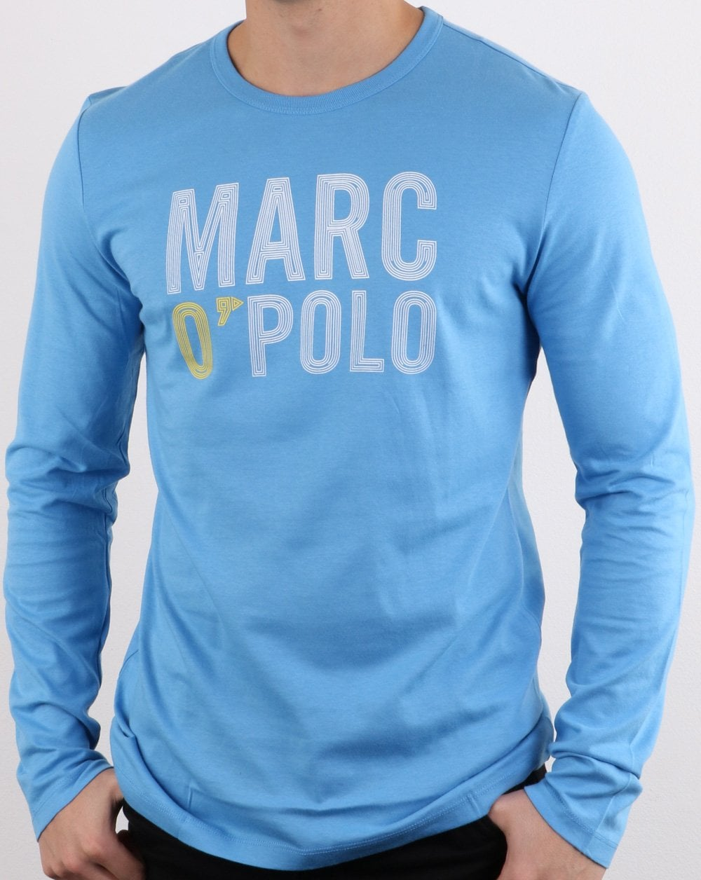 1bc03d8f72 Marc O'Polo Long Sleeve T Shirt in Sky Blue | 80s Casual Classics
