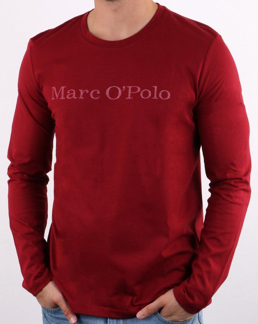 36824423f6 Marc O'Polo Long Sleeve T Shirt in Biking Red | 80s Casual Classics