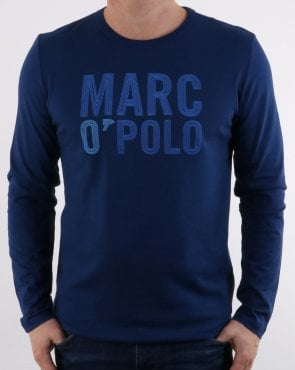 Marc O'Polo Marc O Polo Long Sleeve T-shirt Estate Blue