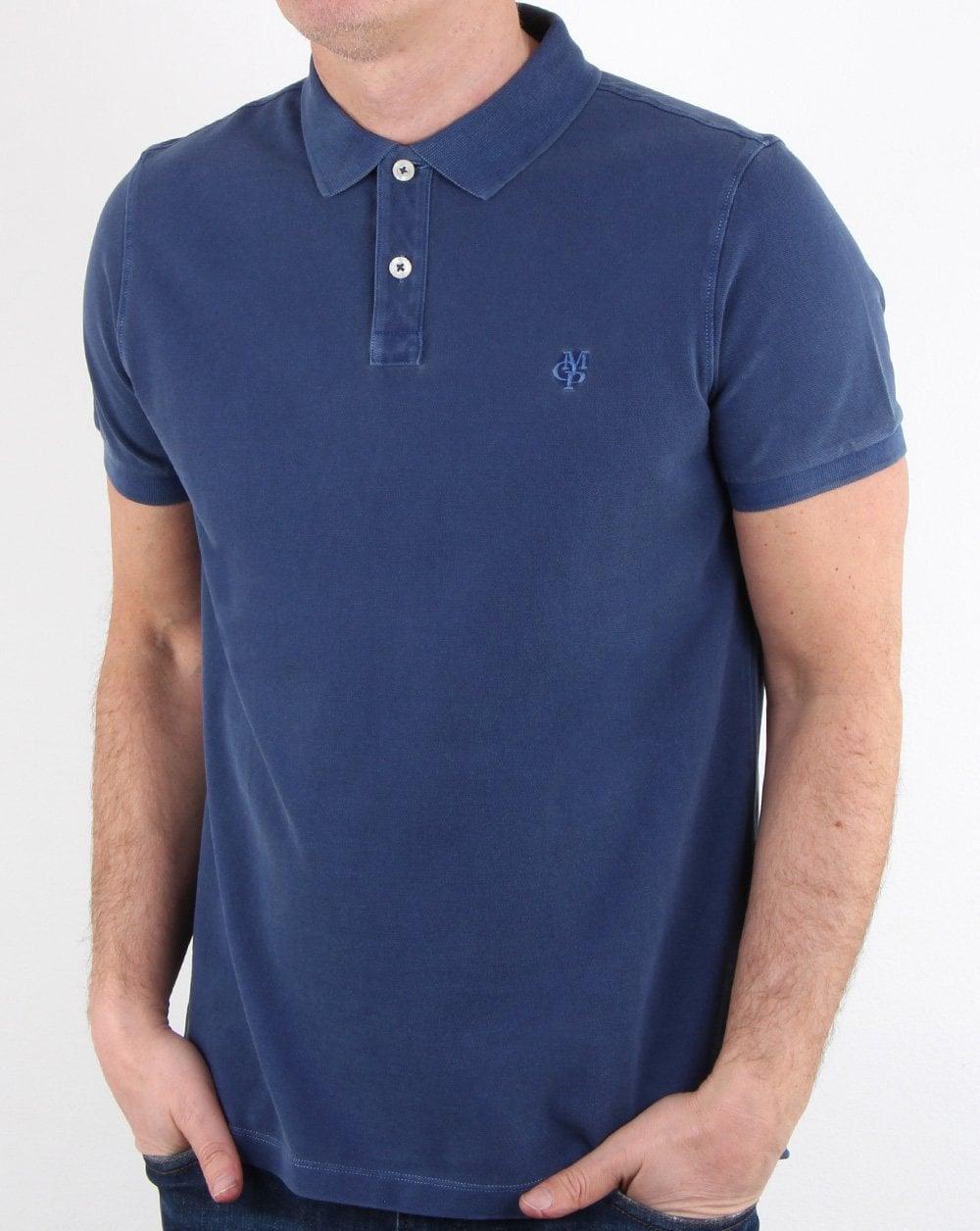 size 40 9f6d4 addbe Marc O Polo Polo Shirt Blue