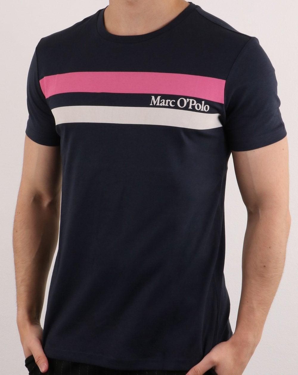 official photos 04579 04923 Marc O Polo Short Sleeve T-shirt Navy