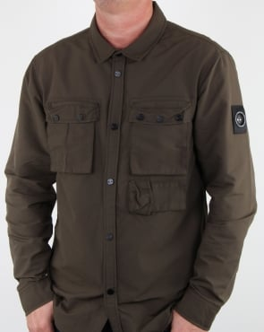 Marshall Artist 60 40 Hiking Overshirt Khaki