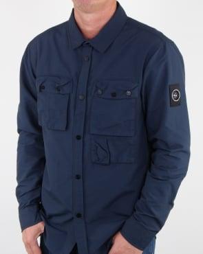 Marshall Artist 60 40 Hiking Overshirt Navy