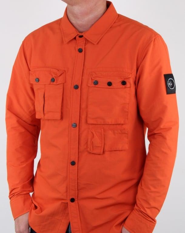 Marshall Artist 60 40 Hiking Overshirt Orange
