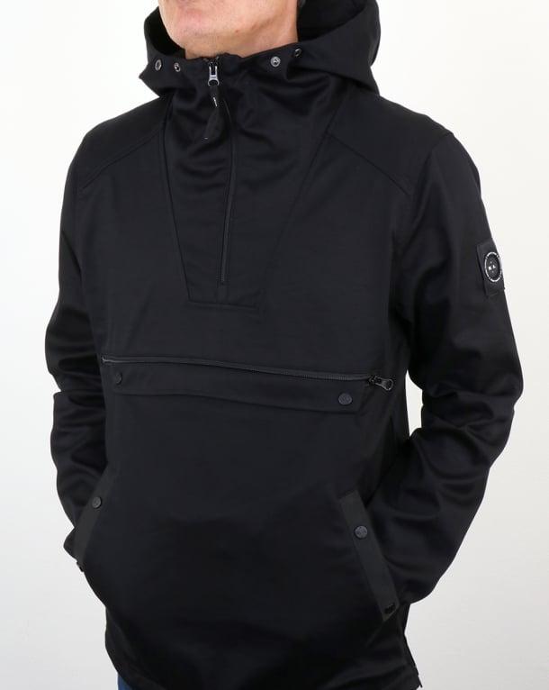 Marshall Artist British Microtwill 1/4 zip jacket Navy