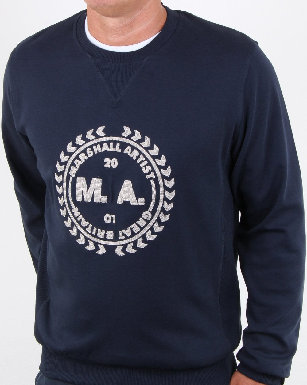 Marshall Artist Navy Embroidered Logo Sweatshirt