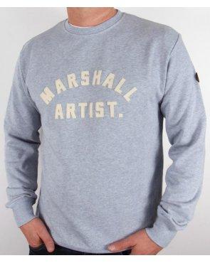 Marshall Artist Classic Marque Sweatshirt Grey Blue
