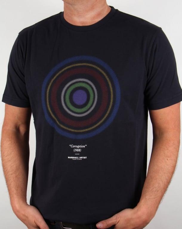 Marshall Artist Corruption T-shirt Midnight Navy