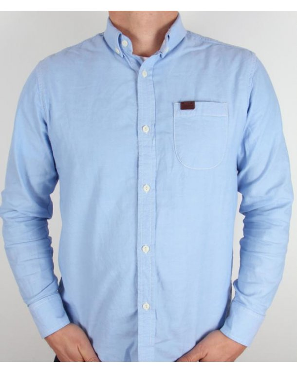 Marshall Artist Cotton Oxford Shirt Sky Blue