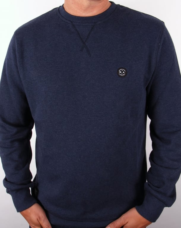 Marshall Artist Crew Neck Sweatshirt Navy