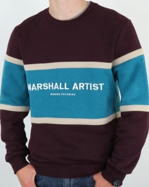 Marshall Artist Crown Heights Sweatshirt Burgundy