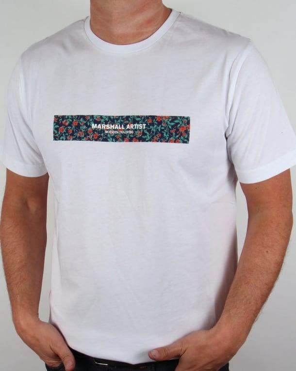 Marshall Artist Floral Box T-shirt White