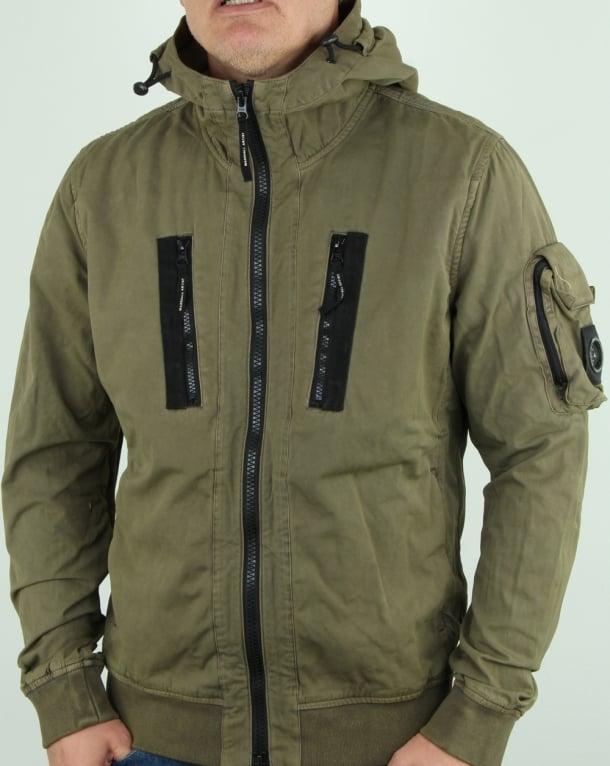 Marshall Artist Garment Dyed Bomber Jacket Khaki