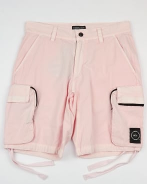 Marshall Artist Garment Dyed Cargo Shorts Pink