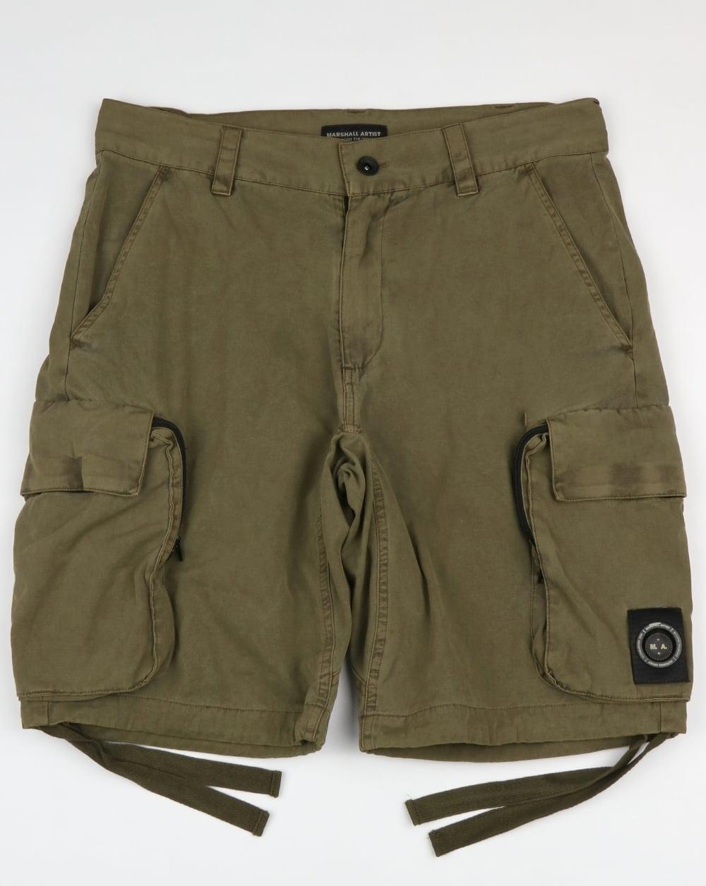 c582335f72 Marshall Artist Marshall Artist Garment Dyed Combat Cargo Shorts Khaki