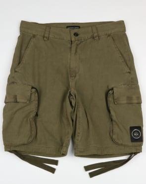 Marshall Artist Garment Dyed Combat Cargo Shorts Khaki