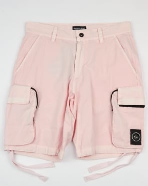 Marshall Artist Garment Dyed Combat Cargo Shorts Pink