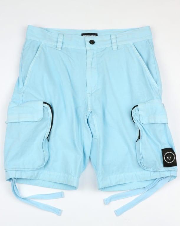 Marshall Artist Garment Dyed Combat Cargo Shorts Sky