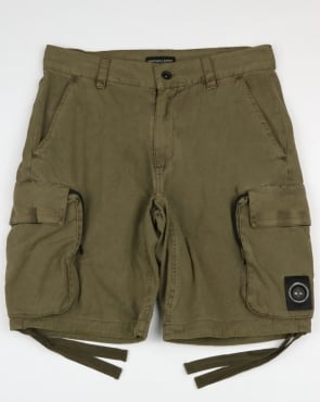 Marshall Artist Garment Dyed Combat Shorts Khaki