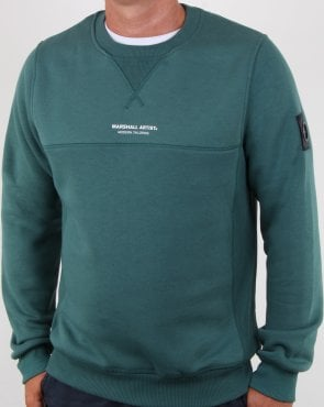Marshall Artist Garment Dyed Crew Sweatshirt Green