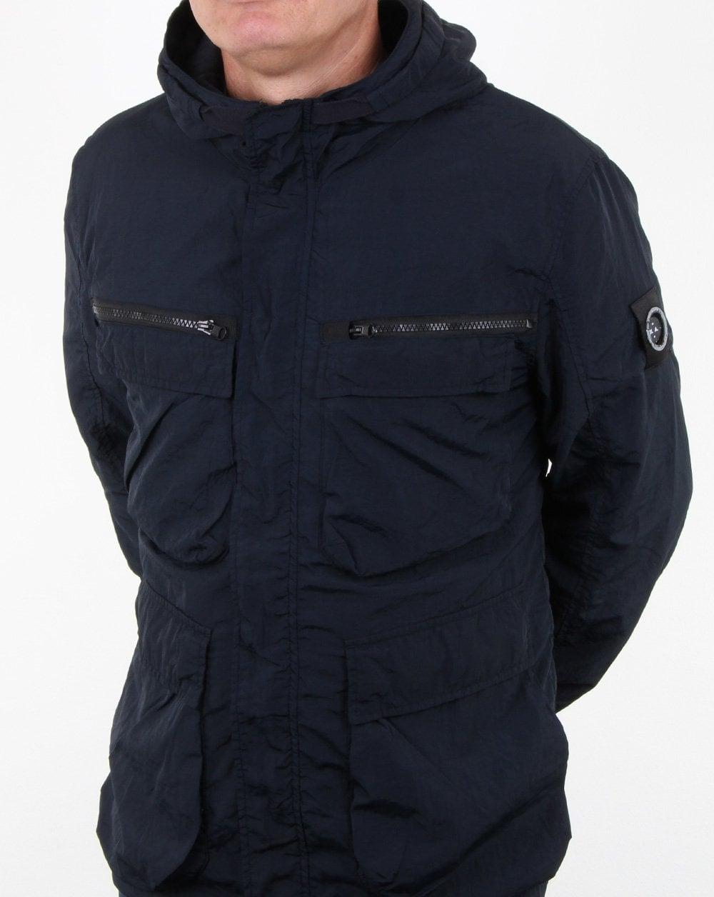 Marshall Artist Garment Dyed Field Jacket Navy Mens Jacket Smart
