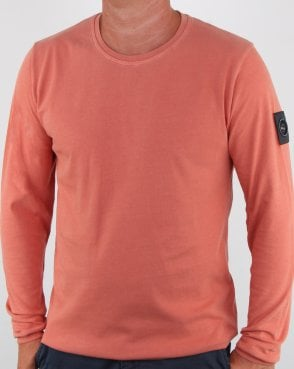 Marshall Artist Garment Dyed Long Sleeve T-shirt Orange