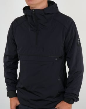 Marshall Artist Liquid Nylon Half Zip Jacket Navy