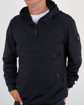 Marshall Artist Liquid Nylon Half Zip Jacket Navy