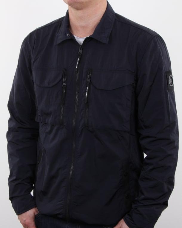 Marshall Artist Liquid Nylon Overshirt Navy
