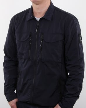 Marshall Artist Liquid Nylon Overshirt Navy