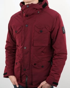 Marshall Artist Liquid Nylon Snow Parka Bordeaux