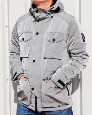 Marshall Artist Liquid Nylon Snow Parka Silver