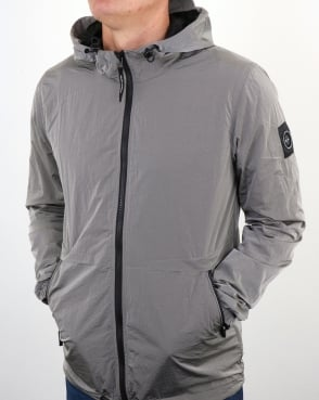 Marshall Artist Liquid Nylon Windrunner Silver Grey