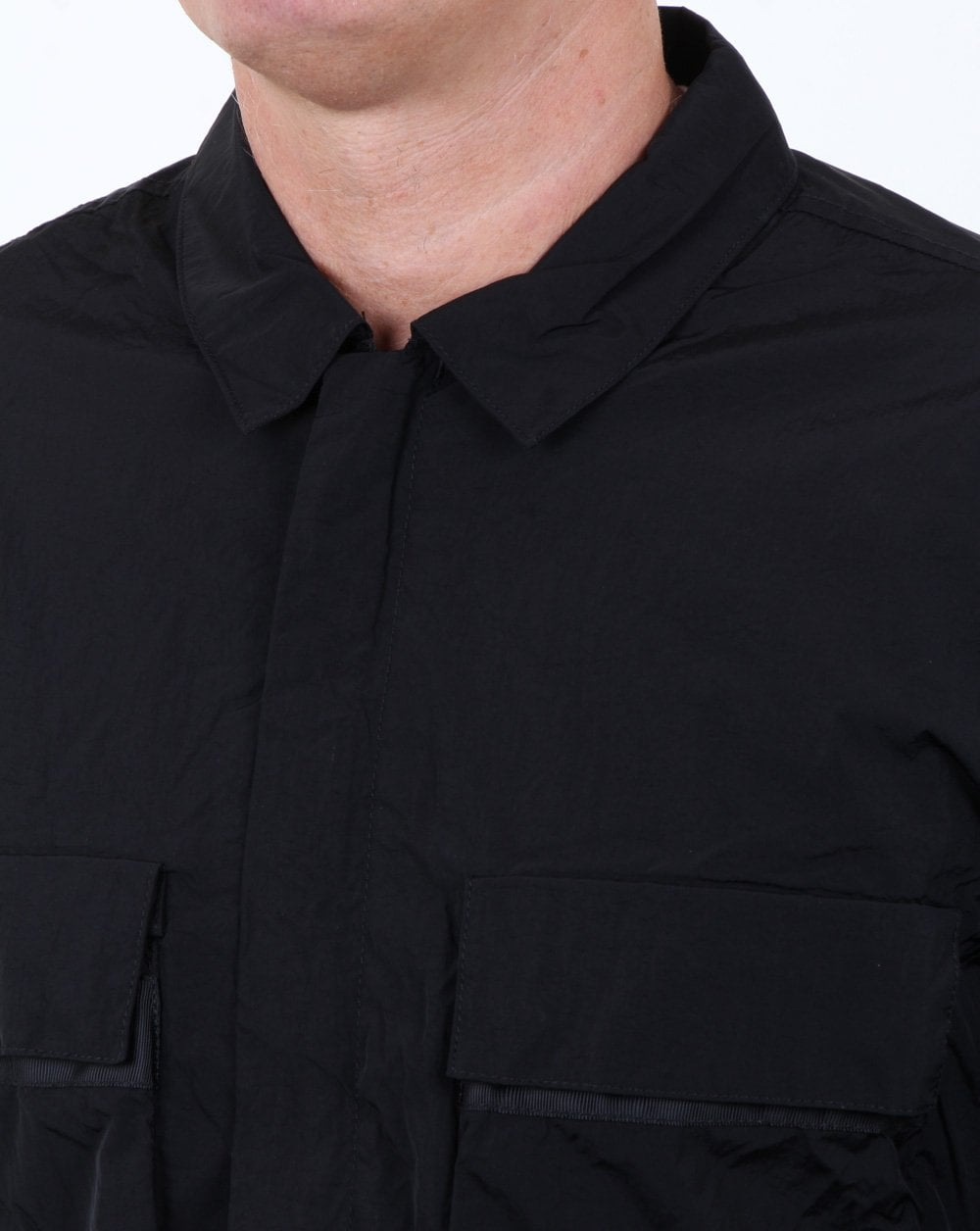 0d7a3da7a75 Marshall Artist Liquid Bellow Pocket Overshirt Black