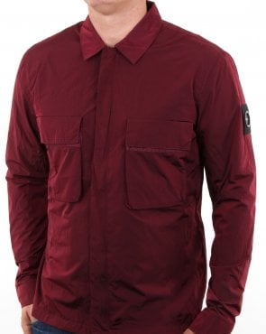 Marshall Artist Liquid Overshirt Burgundy